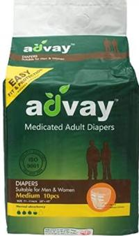 Advay Adult Diapers M 10'S